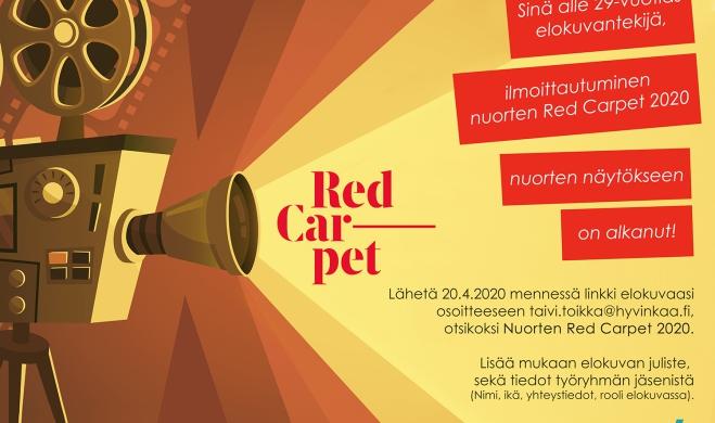 Ilmoittautuminen nuorten Red Carpet 2020 on alkanut!